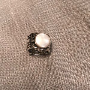 SILPADA Sterling Silver Coin Mother of Pearl Ring
